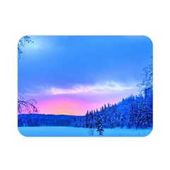 Winter Landscape Snow Forest Trees Double Sided Flano Blanket (mini)
