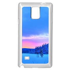 Winter Landscape Snow Forest Trees Samsung Galaxy Note 4 Case (white)
