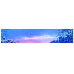 Winter Landscape Snow Forest Trees Flano Scarf (large)