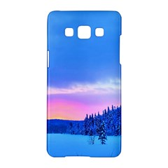 Winter Landscape Snow Forest Trees Samsung Galaxy A5 Hardshell Case
