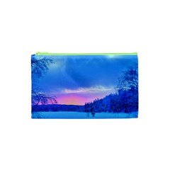 Winter Landscape Snow Forest Trees Cosmetic Bag (XS)