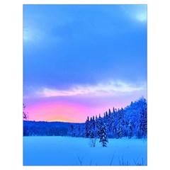 Winter Landscape Snow Forest Trees Drawstring Bag (large)