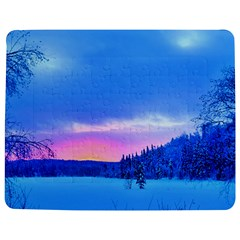Winter Landscape Snow Forest Trees Jigsaw Puzzle Photo Stand (rectangular)