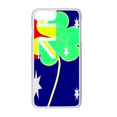 St  Patrick Australia And Ireland Irish Shamrock Australian Country Flag  Apple Iphone 7 Plus White Seamless Case