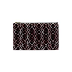 Hexagon1 Black Marble & Red & White Marble Cosmetic Bag (small)