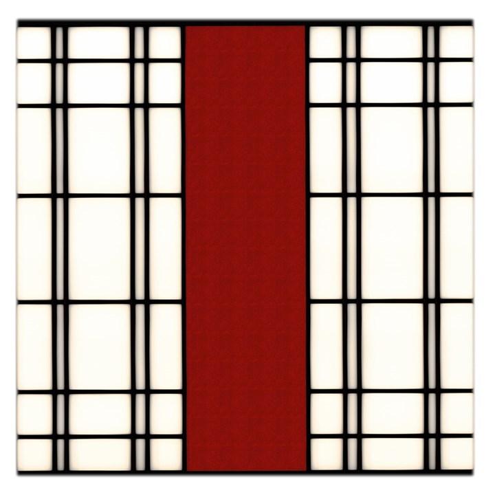 SHOJI - RED Large Satin Scarf (Square)