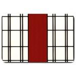 SHOJI - RED Large Doormat  30 x20 Door Mat - 1