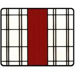 SHOJI - RED Fleece Blanket (Medium)  60 x50 Blanket Front