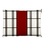 SHOJI - RED Pillow Case (Two Sides) Back