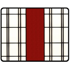 SHOJI - RED Double Sided Fleece Blanket (Medium)