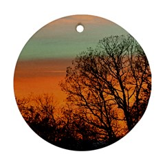 Twilight Sunset Sky Evening Clouds Ornament (round)