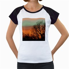 Twilight Sunset Sky Evening Clouds Women s Cap Sleeve T