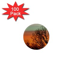 Twilight Sunset Sky Evening Clouds 1  Mini Magnets (100 Pack)