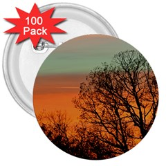 Twilight Sunset Sky Evening Clouds 3  Buttons (100 Pack)