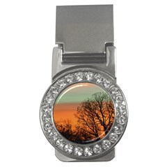 Twilight Sunset Sky Evening Clouds Money Clips (cz)