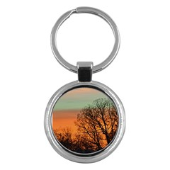 Twilight Sunset Sky Evening Clouds Key Chains (round)