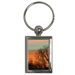 Twilight Sunset Sky Evening Clouds Key Chains (rectangle)