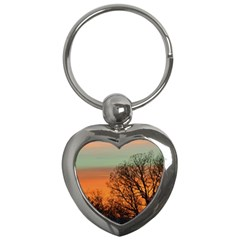 Twilight Sunset Sky Evening Clouds Key Chains (heart)