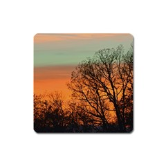 Twilight Sunset Sky Evening Clouds Square Magnet