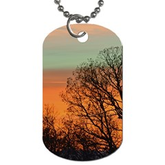 Twilight Sunset Sky Evening Clouds Dog Tag (One Side)