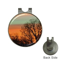 Twilight Sunset Sky Evening Clouds Hat Clips With Golf Markers