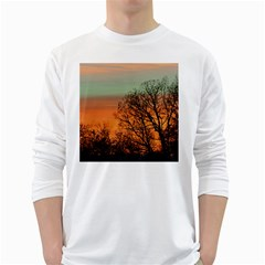 Twilight Sunset Sky Evening Clouds White Long Sleeve T Shirts