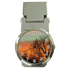 Twilight Sunset Sky Evening Clouds Money Clip Watches