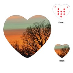 Twilight Sunset Sky Evening Clouds Playing Cards (heart)