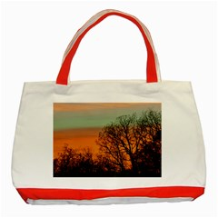 Twilight Sunset Sky Evening Clouds Classic Tote Bag (red)