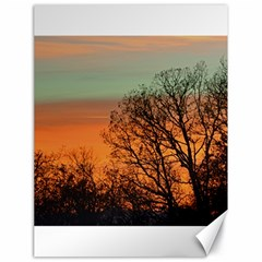 Twilight Sunset Sky Evening Clouds Canvas 18  X 24