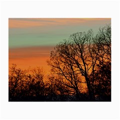 Twilight Sunset Sky Evening Clouds Small Glasses Cloth (2 Side)