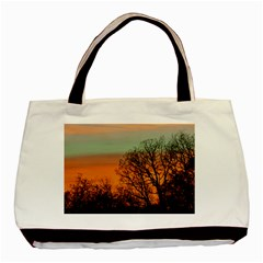 Twilight Sunset Sky Evening Clouds Basic Tote Bag (two Sides)