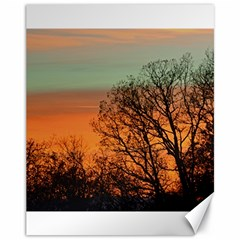 Twilight Sunset Sky Evening Clouds Canvas 11  X 14