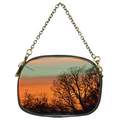 Twilight Sunset Sky Evening Clouds Chain Purses (two Sides)