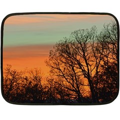 Twilight Sunset Sky Evening Clouds Double Sided Fleece Blanket (Mini)