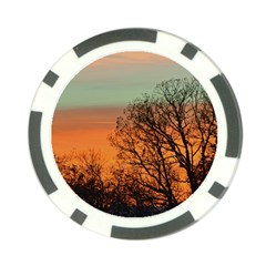 Twilight Sunset Sky Evening Clouds Poker Chip Card Guards (10 Pack)