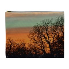 Twilight Sunset Sky Evening Clouds Cosmetic Bag (xl)