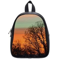 Twilight Sunset Sky Evening Clouds School Bags (small)