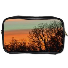 Twilight Sunset Sky Evening Clouds Toiletries Bags 2 Side