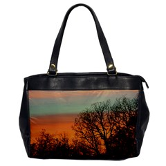 Twilight Sunset Sky Evening Clouds Office Handbags