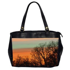 Twilight Sunset Sky Evening Clouds Office Handbags (2 Sides)