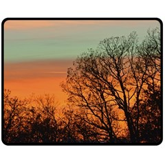 Twilight Sunset Sky Evening Clouds Fleece Blanket (medium)