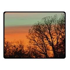 Twilight Sunset Sky Evening Clouds Fleece Blanket (small)