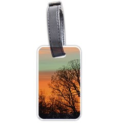 Twilight Sunset Sky Evening Clouds Luggage Tags (one Side)