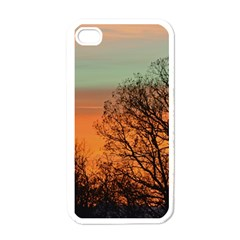 Twilight Sunset Sky Evening Clouds Apple Iphone 4 Case (white)