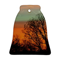 Twilight Sunset Sky Evening Clouds Bell Ornament (2 Sides)