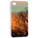 Twilight Sunset Sky Evening Clouds Apple iPhone 4/4s Seamless Case (White) Front