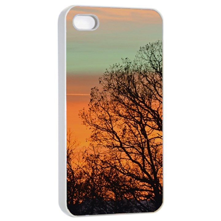 Twilight Sunset Sky Evening Clouds Apple iPhone 4/4s Seamless Case (White)