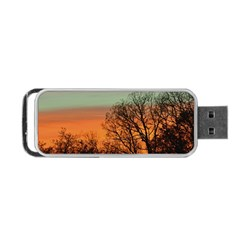 Twilight Sunset Sky Evening Clouds Portable Usb Flash (two Sides)