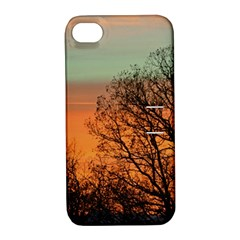 Twilight Sunset Sky Evening Clouds Apple Iphone 4/4s Hardshell Case With Stand